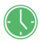 Clock representing advanced business manager software time-sheeting; control time spent by staff during accounting tasks