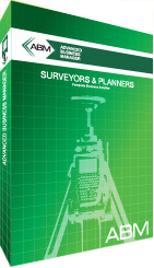 Advanced business manager software suite for Surveyors and planners.