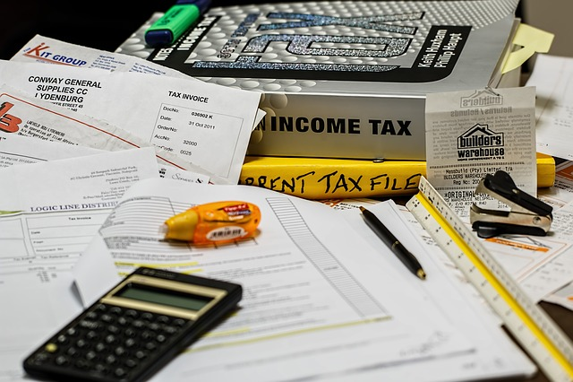 Income tax stock image. Advanced business manager and compliance with Making tax digital