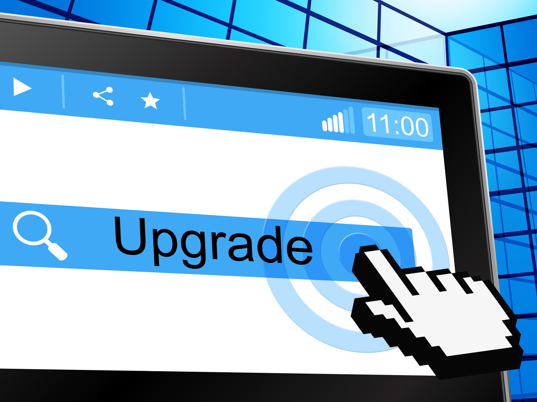 Software update stock image; the importance of keeping software updated