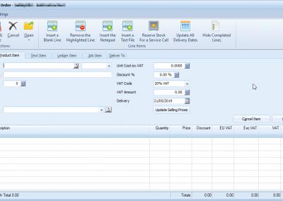 ABM Product item tab