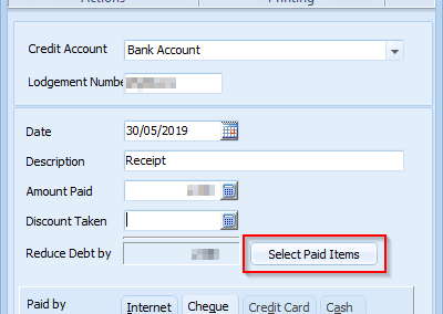 screenshot of a receipt details window